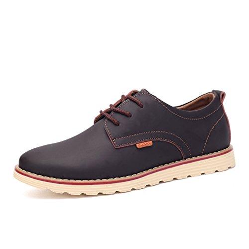 [QIFENGDIANZI] デッキシューズ メンズ カジュアルシューズ 靴 ドライビングシューズ スニーカー 紳士靴 ローカット アウトドア オシャレ スリッポン コンフォート ブラウン 25.5cm