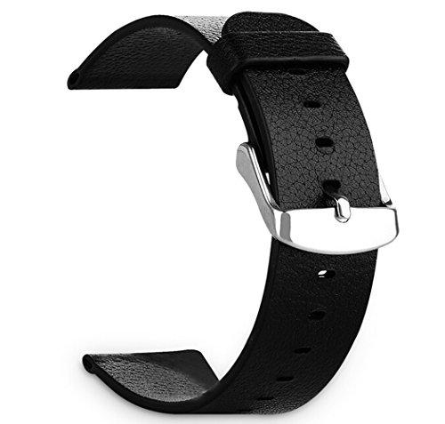 【ShineZone】Apple Watch 38mm 用 時計バンド 交換ベルト  腕時計ストラップ  本革  時計ベルト高級レザーベルト(ブラック)