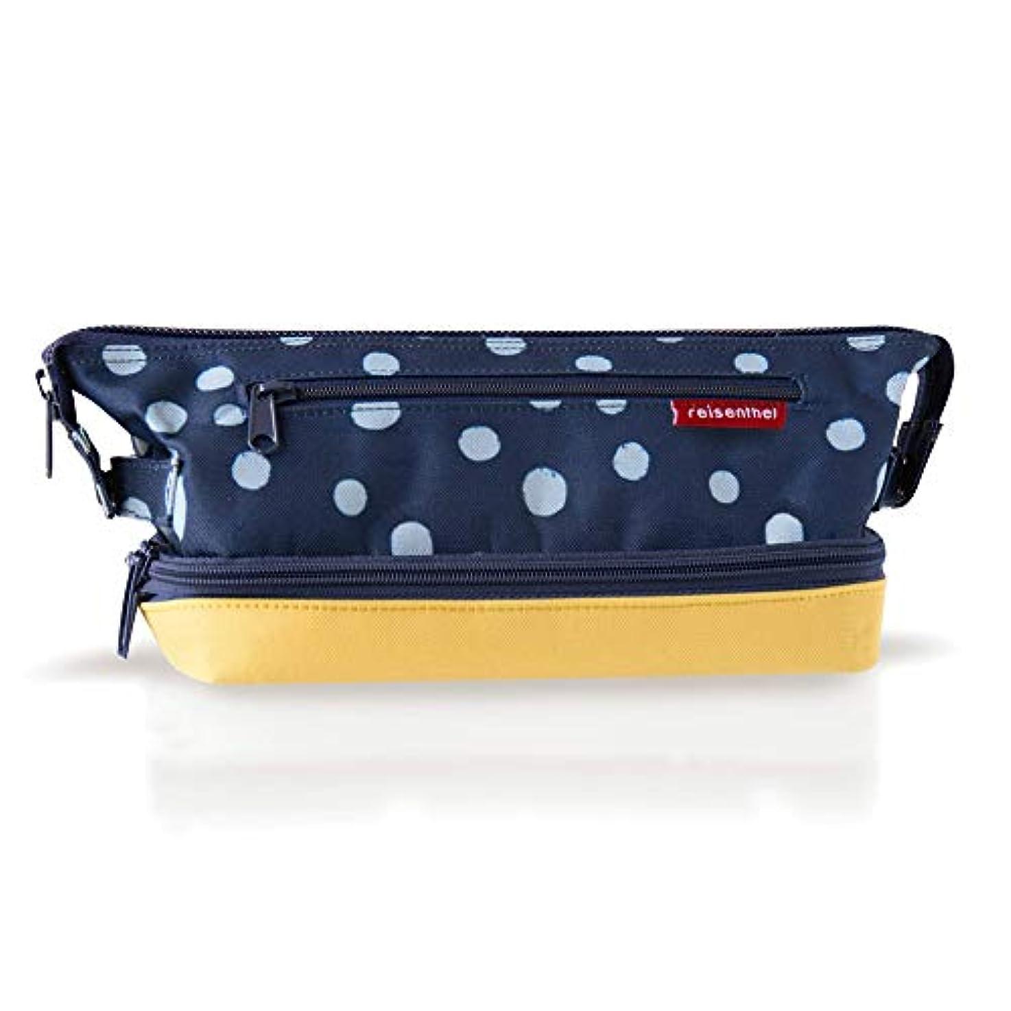 恩赦計算行うreisenthel コスメティックバッグS 【正規輸入品】化粧ポーチ 化粧バッグ メイクボックス メイクバッグ (スポットネイビー&イエロー)