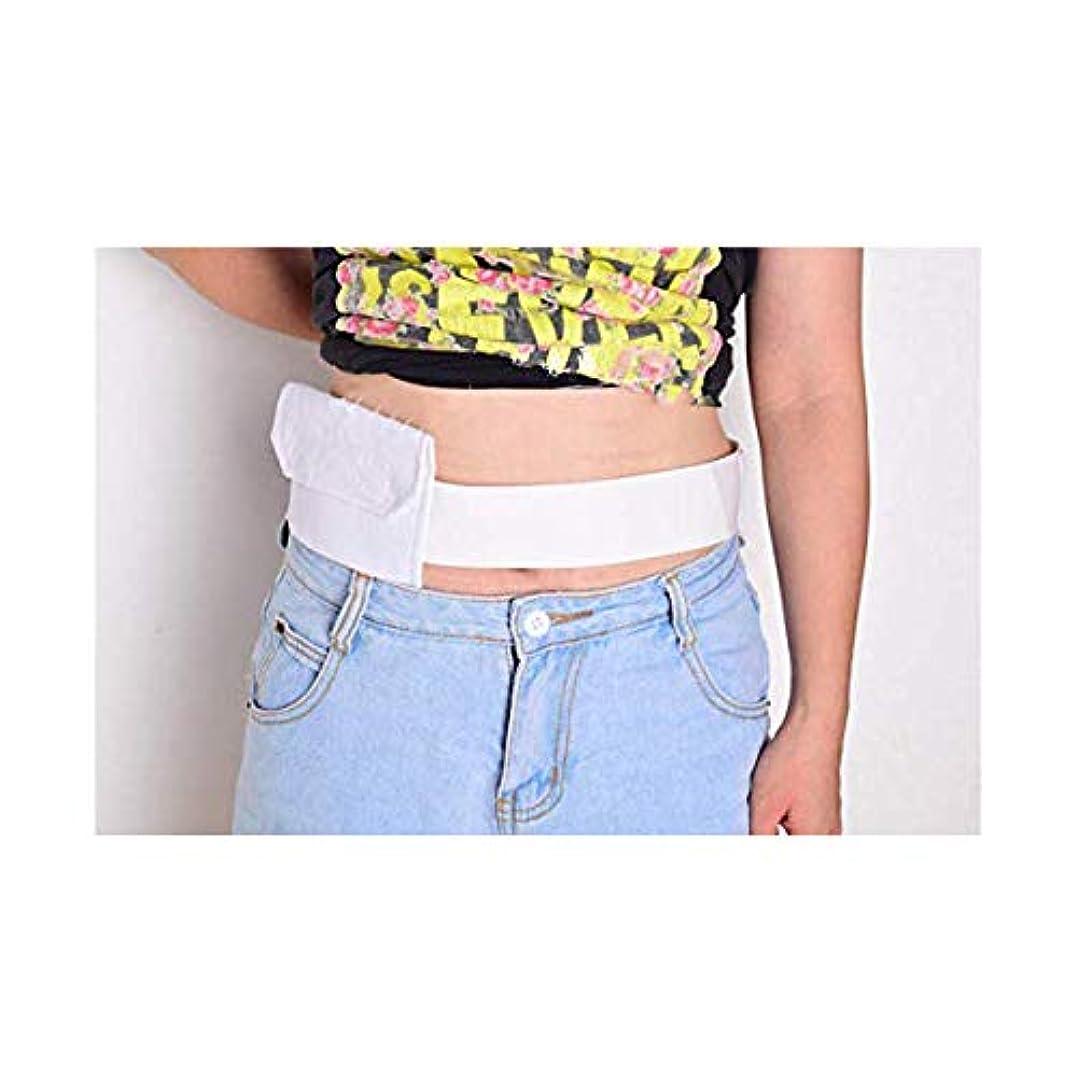 スパイビジョンあたり腹部透析保護ベルト、通気性腹部チューブ収納ベルト、綿調節可能な弾性,2Pcs