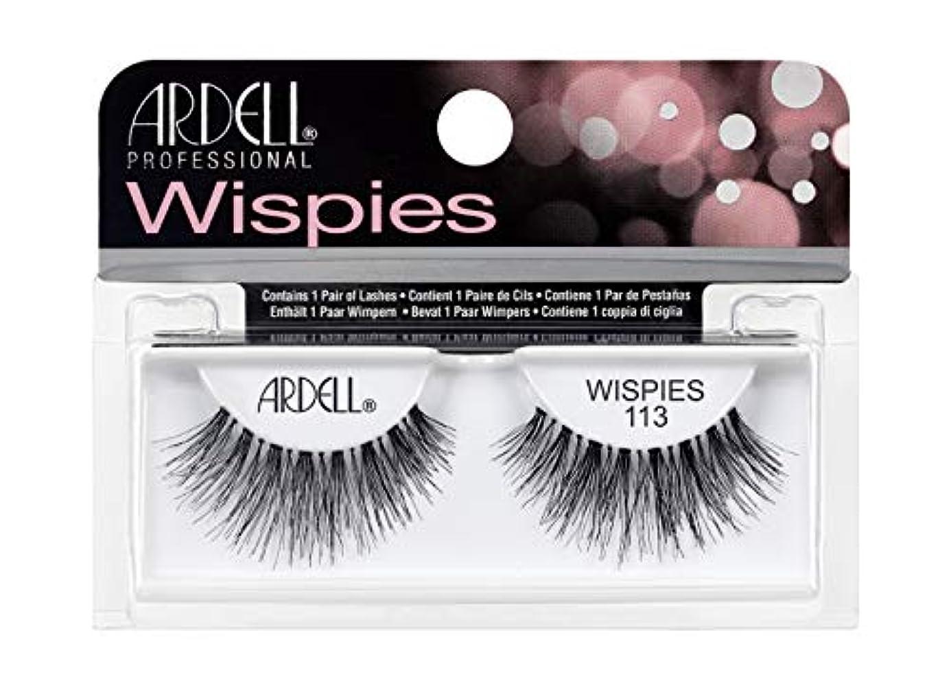 赤道昆虫を見る拡張Ardell Glamour Lashes Women's Eyelashes, No. 113 Black by Ardell