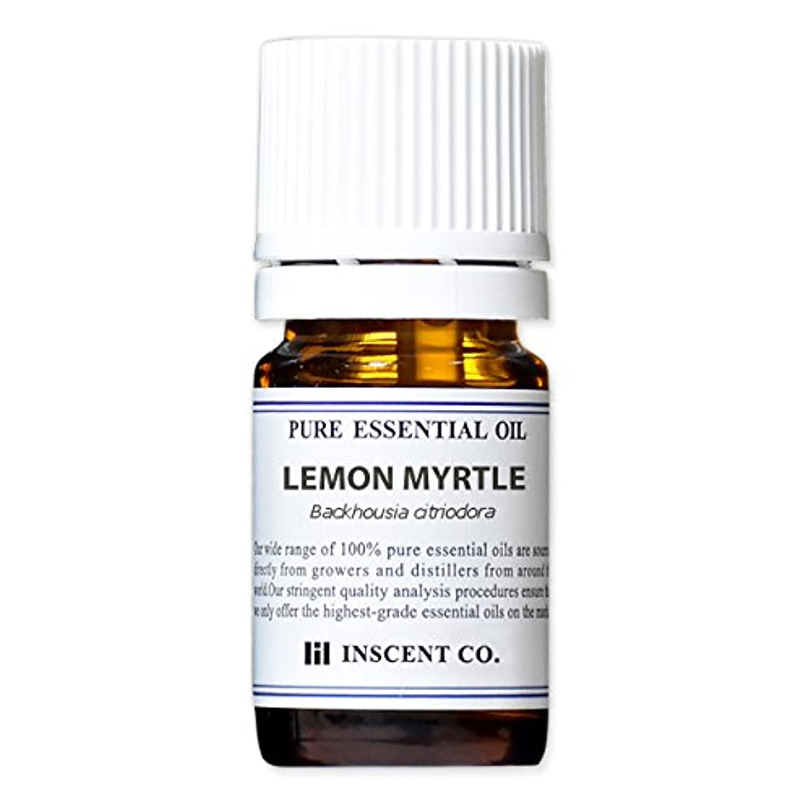 悪意脇に最高レモンマートル 5ml インセント アロマオイル AEAJ 表示基準適合認定精油