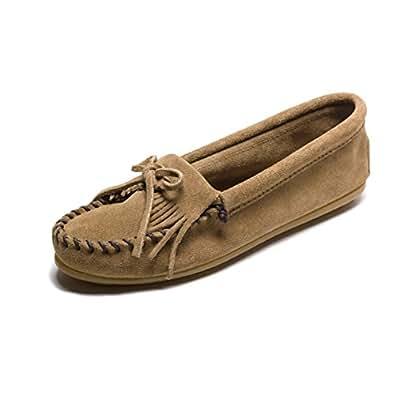(ミネトンカ) MINNETONKA モカシン キルティ KILTY SUEDE MOC キルティ モカシン スエード モック モカシン レディース 本革 靴 23.5cm(US6.5) TAUPE(407T) [並行輸入品]