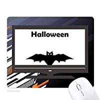 幸せな幽霊恐怖ハロウィンバット ノンスリップラバーマウスパッドはコンピュータゲームのオフィス