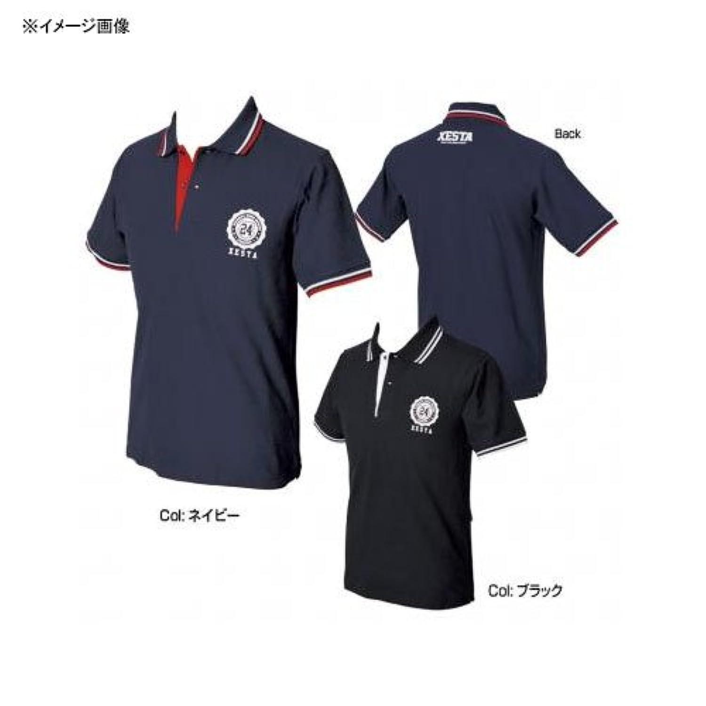 ゼスタ(XESTA) ドライポロシャツ (エンブレム) ブラック XL