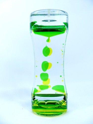 オイルタイマー アメーバタイプ イエロー/グリーン オイル時計 OIL168