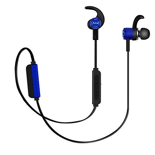 Bluetooth イヤホン Aita Bt72 Hi-Fi高音質 カナル型 ノイズ低減 マグネット搭載 マイク/リモコン付き iPhone、iPad、Macbook、コンピューター、アンドロイド設備接続 Bluetooth V4.2対応 防水 防塵 スポーツ仕様 ワイヤレス ブルートゥース イヤフォン ブルー