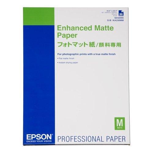 EPSON フォトマット紙/顔料専用 A2 50枚 KA250MM
