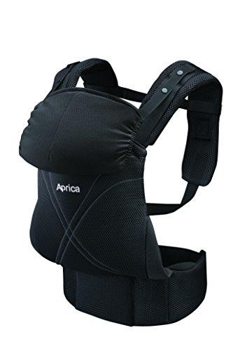 Aprica (アップリカ) 抱っこひも コラン ハグ AB リュクス ブラック BK (つかれにくい腰ベルトタイプ + 新生児シート同梱 + 5Wayタイプ) 39456 【新SG対応モデル】