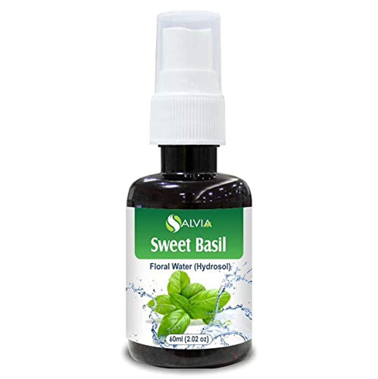 ショート前服を洗うSweet Basil Floral Water 60ml (Hydrosol) 100% Pure And Natural