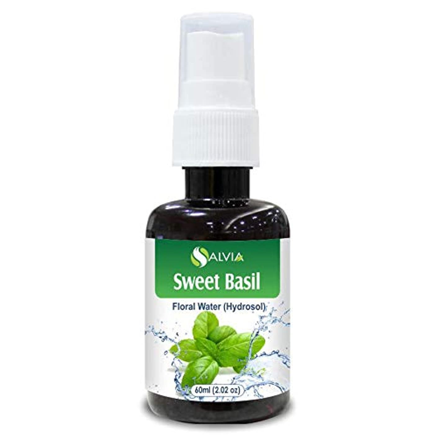アクセスできない面動くSweet Basil Floral Water 60ml (Hydrosol) 100% Pure And Natural