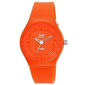 [シチズン キューアンドキュー]CITIZEN Q&Q 腕時計 アナログ 10気圧防水 ウレタンバンド 逆輸入 海外モデル オレンジ VR36J007
