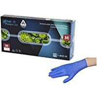 アズワン 抗菌性ニトリル手袋 AMG パウダーフリー 1箱(100枚入) サイズ:M