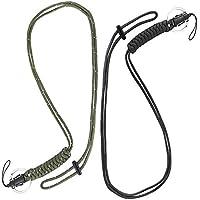 YBWM ネックストラップ 救助用ロープ 黒3本+緑1本 4本セット 多機能ネックストラップ 超頑丈なパラコード 吊り下げストラップ ランヤード オシャレ スマオ 鍵 デジカメ 紛失防止
