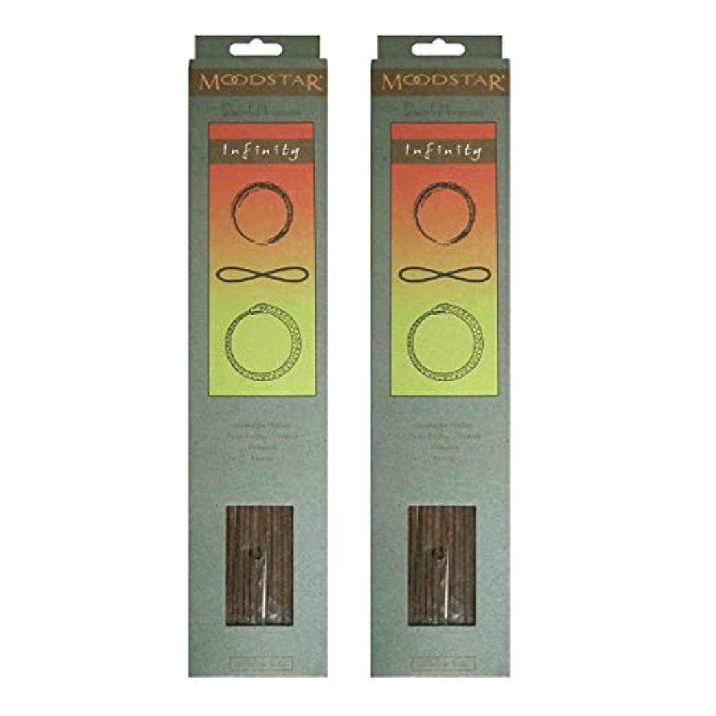 解き明かすくすぐったいリベラルMOODSTAR ムードスター Infinity インフィニティー インセンス お香 20本 X 2パック (40本)