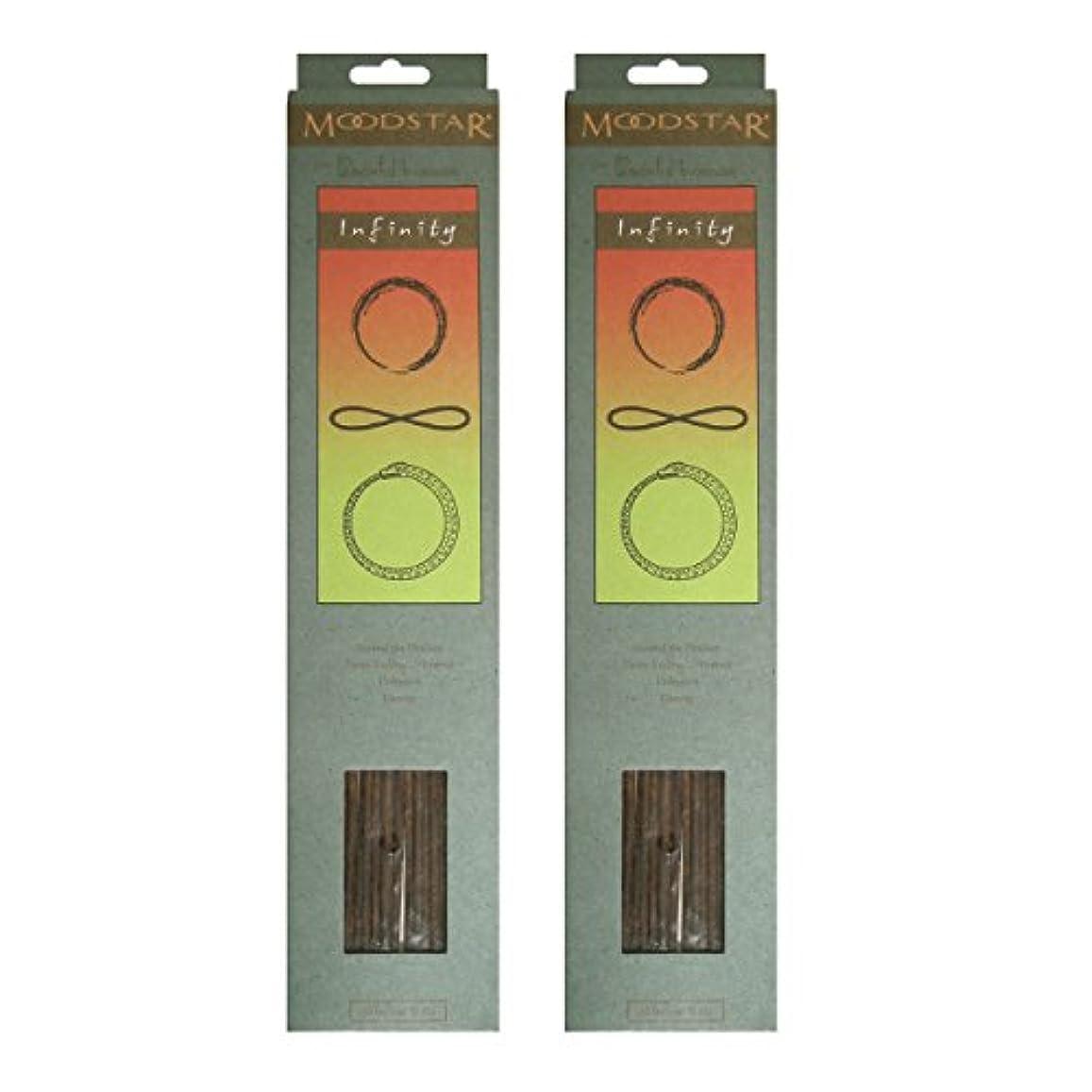 ペルー大通りスリットMOODSTAR ムードスター Infinity インフィニティー インセンス お香 20本 X 2パック (40本)
