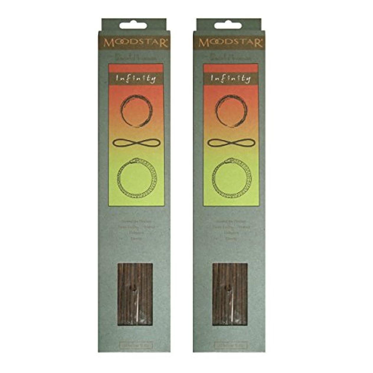 土鳴り響く州MOODSTAR ムードスター Infinity インフィニティー インセンス お香 20本 X 2パック (40本)