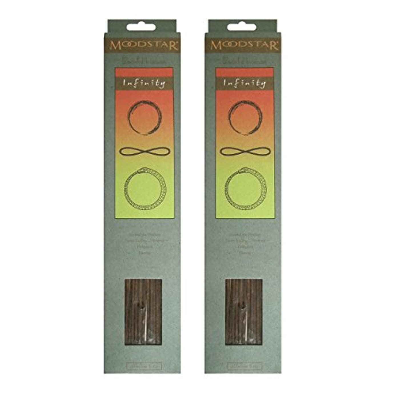 台風森林鉱石MOODSTAR ムードスター Infinity インフィニティー インセンス お香 20本 X 2パック (40本)