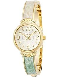 [フィールドワーク]Fieldwork 腕時計 ファッションウォッチ nattito トレバー バングル グリーン × ホワイト ST127-4 レディース