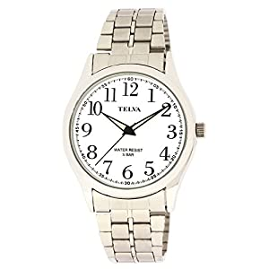 [クレファー]CREPHA 腕時計 アナログ ブレスレット 5気圧 防水 シルバー ホワイト TE-AM025-WTS メンズ