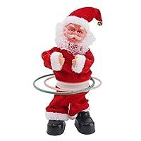 B Baosity クリスマスギフト フープ サンタクロースフィギュア 歌う ダンスおもちゃ キッズ電動玩具