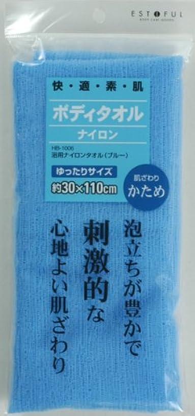 マント大腿不利益EF.浴用タオル ブルー かため
