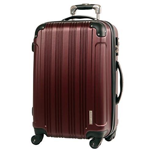 L型 バーガンディ / メッシュQueendom TSAロック搭載 スーツケース キャリーバッグ 大型 (5~10日用)