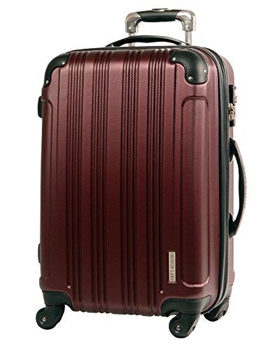 L型 バーガンディ/メッシュQueendom TSAロック搭載 スーツケース キャリーバッグ 大型 (5~10日用)