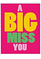 A Big Miss You Miss You Joke用紙カード 1 Jumbo Miss You Card & Enve. (J2733MYG)