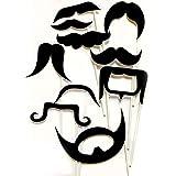 Mustaches写真ブース小道具を使用する準備 – 10ピース、誕生日、結婚式やパーティー、ベビーシャワー、独身パーティー、スウィートシックスティーンforのイベント。ウェディング写真ブース小道具。誕生日フォトブース