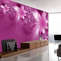 Lcymt クリスタルシルク壁画壁紙3Dコンタクト壁紙ペーパーペーパー家の装飾壁紙用リビングルーム花アートA-150X120Cm