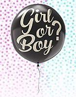 性別発表バルーンセット ブルーとピンクの紙吹雪付き - 赤ちゃんのお知らせやシャワーパーティー用品