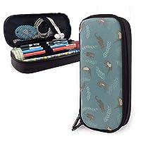 ペンケース 動物カワウソ 筆箱 財布 ファスナー付き 収納可能 多機能 持ち運びに便利 学生 男女兼用 化粧ポーチ