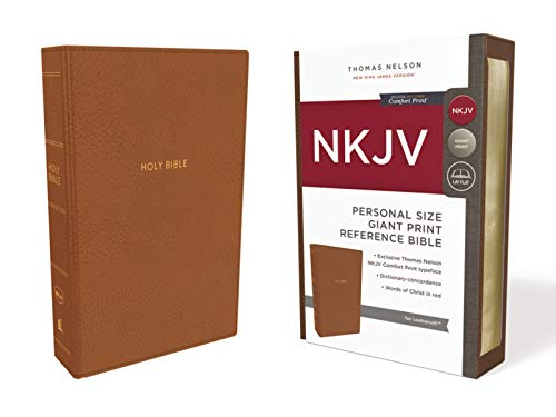 The Holy Bible: New King James Version, Tan, Leathersoft, Personal Size Reference Bible: Red Letter Edition
