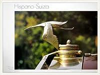 ポスター ジャン・ポール・キャロン Hispano Suiza 額装品 ウッドベーシックフレーム(ホワイト)