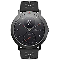 Withings Steel HR Sport ブラック 歩数 消費カロリー 心拍数 睡眠データ記録 最大25日間充電持続 【日本正規代理店品】 HWA03B-40black-sport-all-Asia