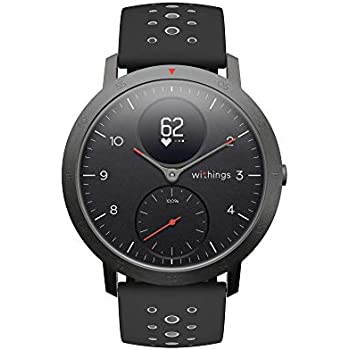 Withings Steel HR Sport ブラック 歩数 消費カロリー 心拍数 睡眠データ記録 最大25時間充電持続 【日本正規代理店品】 HWA03B-40black-sport-all-Asia