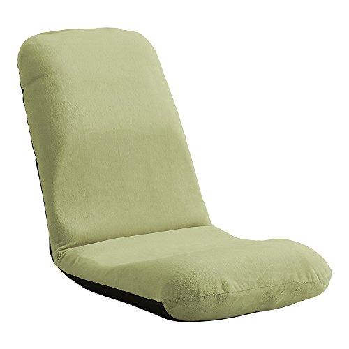 美姿勢習慣、コンパクトなリクライニング座椅子(Mサイズ)日本製 | Leraar-リーラー- 起毛グリーン