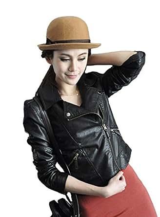 2-4050020-4 XL ブラック (セクシースキップ)PUレザー ジャケット) 高品質PU ジャケット テーラードジャケット Leather Jacket ライダースジャケット 革ジャン フェイクレザー レディースジャケット ブレザー イダース 皮 ブラック [並行輸入品]