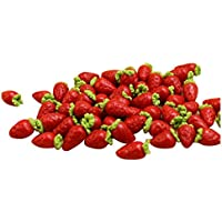 TOOGOO ( R ) 10個ドールハウスミニチュアモデルシミュレーションFakeフルーツキッチン装飾ギフト1 / 12 Strawberry