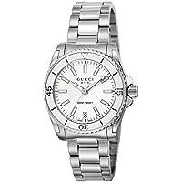 [グッチ]GUCCI 腕時計 DIVE ホワイト文字盤 300M防水 YA136402 【並行輸入品】