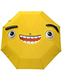KASAMO3D Emoji折りたたみ傘 子供 キャラクター ワンタッチ自動開閉 耐強風 折りたたみ傘 レディース 晴雨兼用 軽量 紫外線傘 UVカット