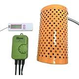 電子サーモスタット+ペットヒーター100W+マルチ湿・温度計 3点保温セット