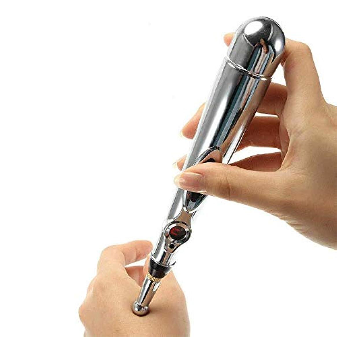 アメリカポンペイハウジングLT 鍼治療用ペン、3種類のマッサージヘッドを備えた電子針、正確な経絡ポイントケアボディパルスマッサージデバイス、強力な経絡エネルギーペンレリーフの痛み