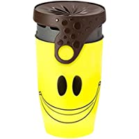 Makias World Twist Top Travel Mug 100% Leak-Proof Lidless Design, Eco Thermo Coffee Cup with Straw - 350ml
