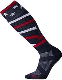 スマートウール アンダーウェア 靴下 SmartWool Ski Medium Over-the-Calf Socks Navy [並行輸入品]