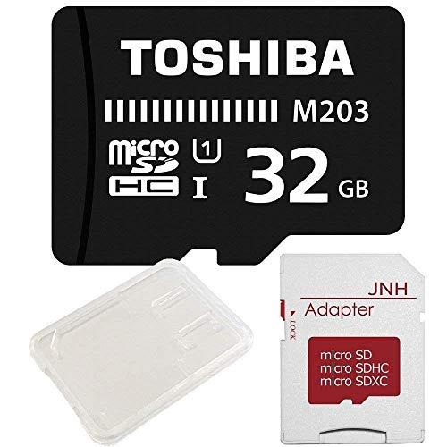東芝 Toshiba microSDHC 32GB + SD アダプター + 保管用クリアケ