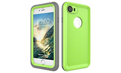 Iphone 7 防水電話ケースは、HBER IP68完全密閉水泳ダイビング水中防塵耐雪性の耐震ヘビーデューティケースカバーは、iphone7のために敏感な画面タッチ指紋認証ロック解除をサポートしています (緑)