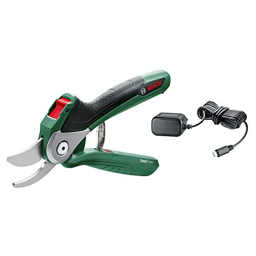 Bosch Cordless Powered Secateurs EasyPrune (Integrated Lithium-Ion Battery, 3.6 Volt, in Blister Pack)