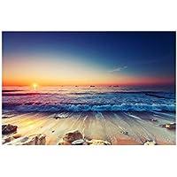 レモンツリーART 海の景色 夜明けの海 日の出 ポスター 壁写真 海の写真 自然 風景画 地  インテリア装飾品 壁飾り 壁掛け絵画 部屋飾り、新築お祝いに最適(90x60cmx1枚)